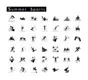 Un insieme di 41 icona di sport di estate Fotografia Stock