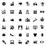 Un insieme di 36 icone semplici per il sito Web o il negozio Immagini Stock