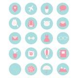 Un insieme di 20 icone di vettore per le reti sociali, l'affare, ecc illustrazione di stock