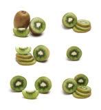 Un insieme di Kiwi Fruit Fotografie Stock Libere da Diritti