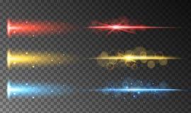 Un insieme di luce astratta Colourful royalty illustrazione gratis