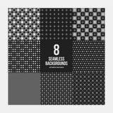 Un insieme di 8 modelli geometrici semplici Fotografie Stock Libere da Diritti