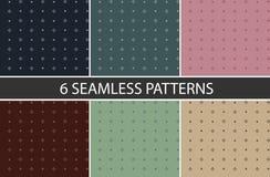 Un insieme di 6 modelli senza cuciture geometrici nel grafico di vettore royalty illustrazione gratis