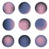 Un insieme di nove cerchi variopinti con il posto per testo Fotografia Stock Libera da Diritti