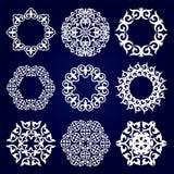Un insieme di nove progettazioni asiatiche, medaglioni per progettazione Fotografia Stock