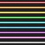 Un insieme di nove raggi laser variopinti Immagine Stock
