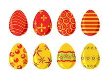 Un insieme di otto uova di Pasqua illustrazione vettoriale