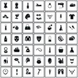 Un insieme di quarantanove icone di bellezza Fotografia Stock