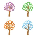 Quattro alberi Fotografia Stock