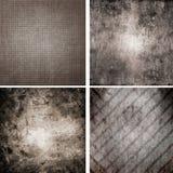 Un insieme di quattro ambiti di provenienza Fotografia Stock Libera da Diritti