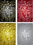 Un insieme di quattro ambiti di provenienza piante bacche sui rami Fotografia Stock
