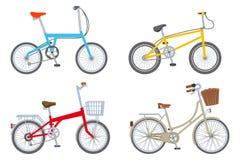 Un insieme di quattro biciclette, isolato royalty illustrazione gratis