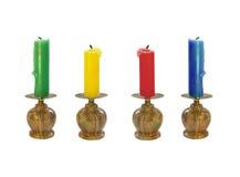Un insieme di quattro candele Immagine Stock Libera da Diritti