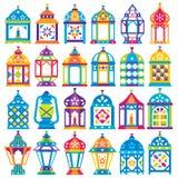 Un insieme di 24 Ramadan Lanterns