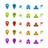 Insieme dei segni della mappa di infographics Fotografia Stock