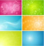 Un insieme di sei ambiti di provenienza Illustrazione di Stock
