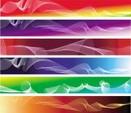 Un insieme di sei bandiere astratte variopinte Fotografia Stock