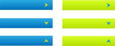 Un insieme di sei bottoni di web Fotografia Stock Libera da Diritti