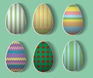 Un insieme di sei uova di Pasqua Fotografia Stock Libera da Diritti