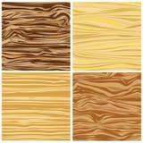 Un insieme di struttura di legno astratta quattro nella progettazione piana Immagini Stock Libere da Diritti