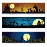 Un insieme di tre insegne di Halloween Immagine Stock Libera da Diritti