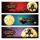 Un insieme di tre insegne di Halloween Fotografia Stock Libera da Diritti