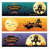 Un insieme di tre insegne di Halloween Immagini Stock Libere da Diritti