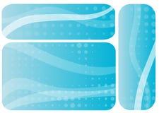 Un insieme di tre schede illustrazione vettoriale