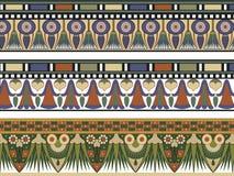 Un insieme di un bordo dei tre Egiziani royalty illustrazione gratis