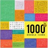 Un insieme di un'icona di 1000 scarabocchi Illustrazione di Stock