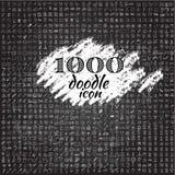 Un insieme di un'icona di 1000 scarabocchi Fotografia Stock