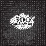 Un insieme di un'icona di 5000 scarabocchi Fotografia Stock Libera da Diritti