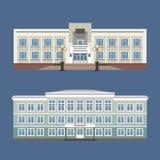 Un insieme di un'illustrazione di due vettori della casa d'annata illustrazione vettoriale