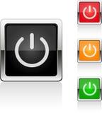 Un insieme di un POTERE di 4 bottoni di web Fotografie Stock Libere da Diritti