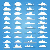 Un insieme di una nuvola di 40 stili illustrazione di stock