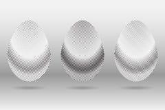 Un insieme di 3 uova di semitono di vettore di pasqua Fotografia Stock