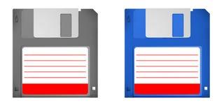 Un insieme di 2 vecchi floppy disk di skool Fotografie Stock