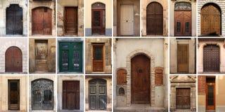 Un insieme di 21 vecchi porte e portone Fotografia Stock