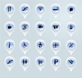Indicatori del centro commerciale Fotografie Stock