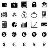 Un insieme di vettore di 25 icone di finanza illustrazione di stock