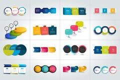 Un insieme mega di 3 modelli infographic di punti, diagrammi, grafico, presentazioni, grafico illustrazione vettoriale