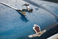 Un insigne de rétros voitures de GAZ Photographie stock