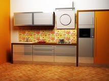 Un interiore della cucina Fotografia Stock Libera da Diritti