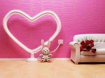 Un interiore romantico di festa Fotografia Stock