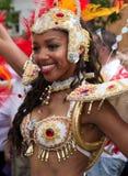 Un interprète dans le carnaval de Notting Hill Photographie stock libre de droits