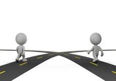 Un'intersezione di due strade illustrazione vettoriale