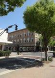 Un'intersezione a Winston-Salem del centro, Nord Carolina Immagine Stock