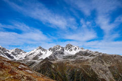 Un intervallo di montagna nelle alpi Immagine Stock Libera da Diritti