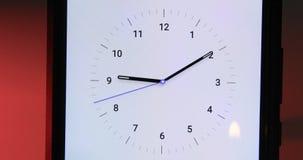 Un intervallo di periodo ridotto di un fronte di orologio video d archivio