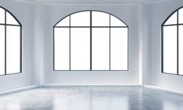Int rieur vide de pi ce blanche avec la fen tre norme for Interieur blanc et lumineux